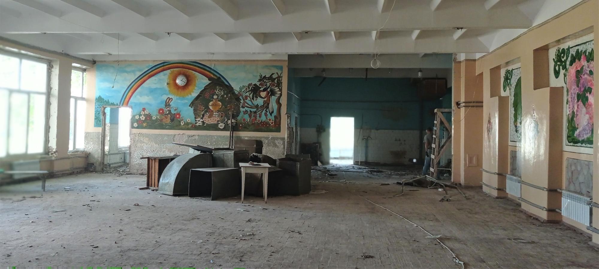ремонт шкільної їдальні в Бахмуті на Донеччині