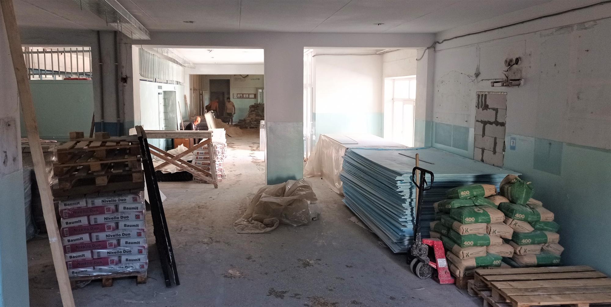реконструкція школи 18 в Бахмуті