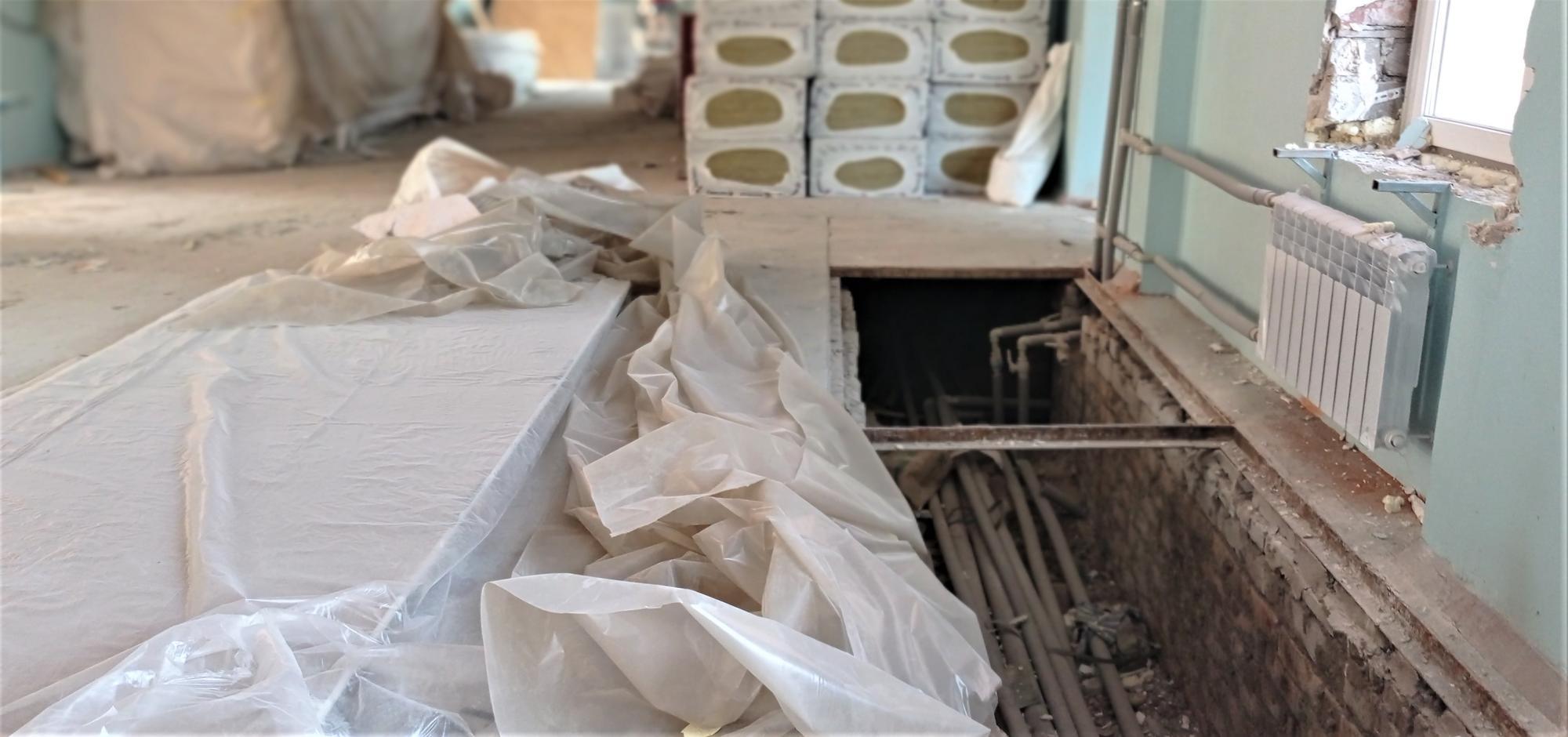 замінені комунікації реконструкція школи 18 в Бахмуті