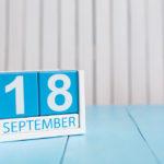 18 вересня: свята і події. Цей день в історії