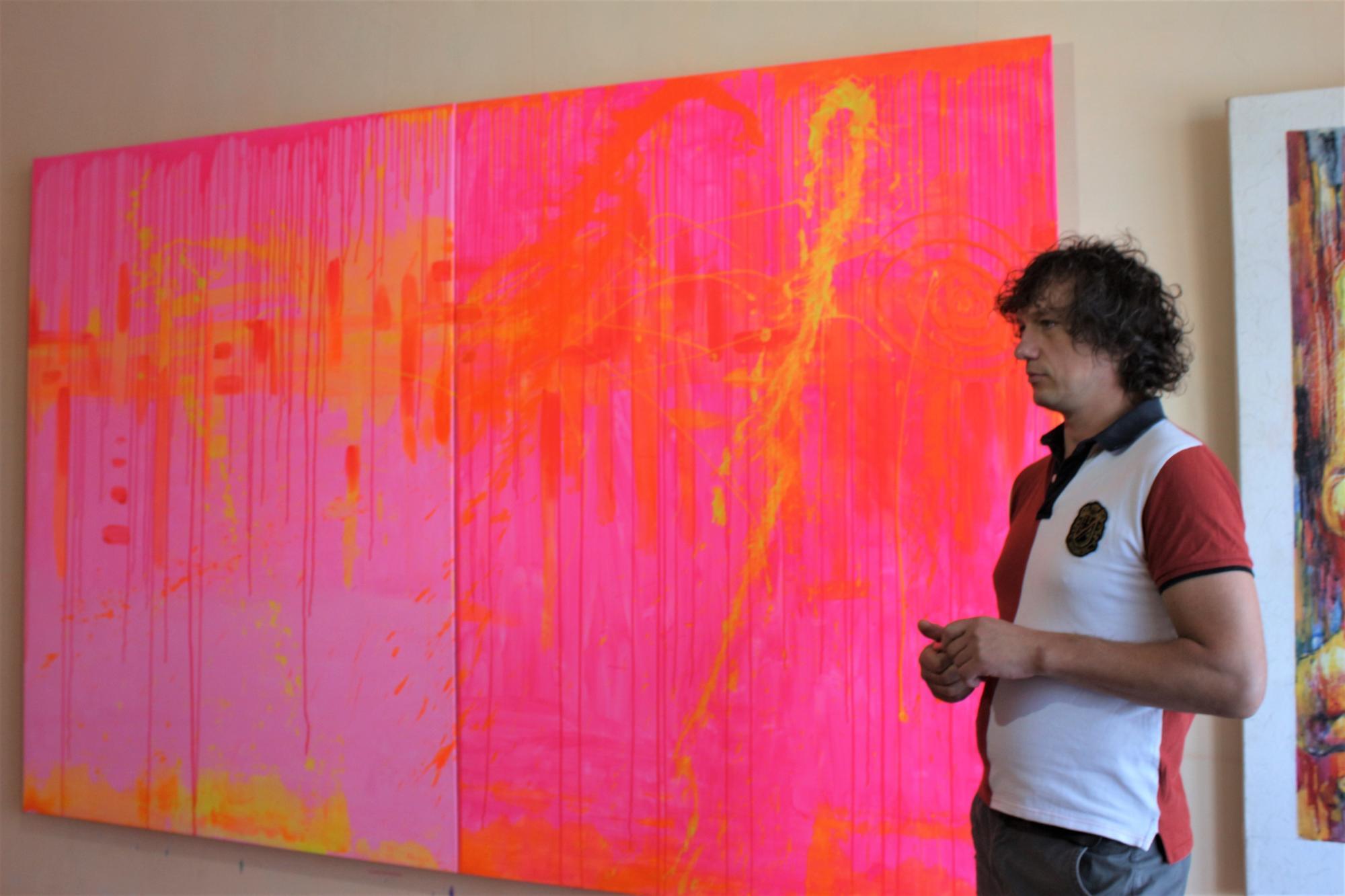 сучасне мистецтво Дмитра Адушкіна з Часів Яра тонка червона лінія арт-резиденція в Бахмуті