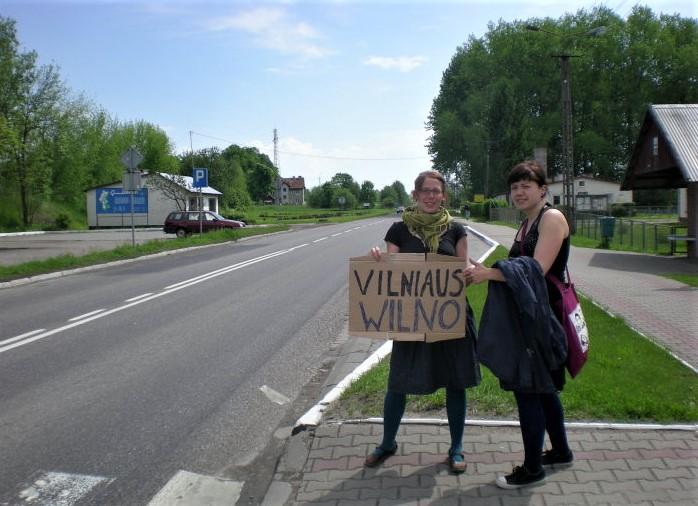 Ясмин Зёнер в странах Балтии автостоп