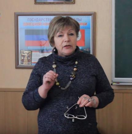 Ольга Чорна в окупованому Донецьку вчителька колаборантка