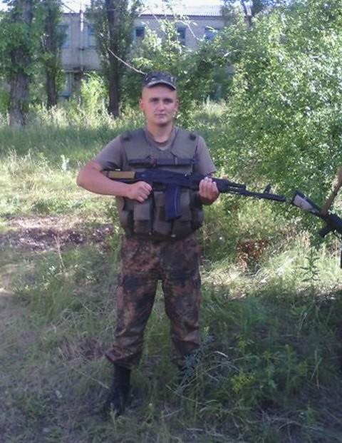 учасник АТО ООС Виталий Ломов  из Черниговской области