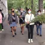 Мешканці Костянтинівки прийшли в міськраду з букетами амброзії, аби влада розпорядилась її покосити