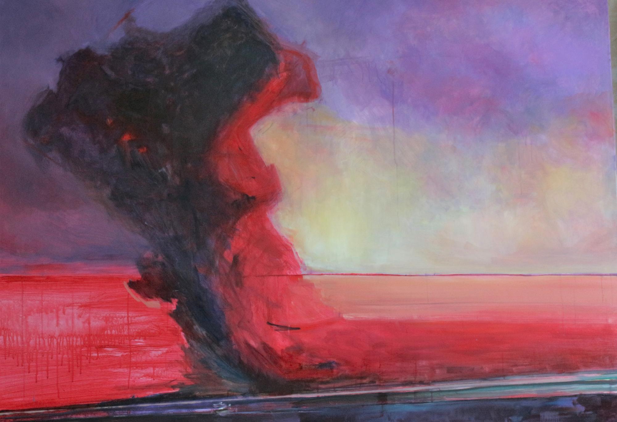 картина на арт-резиденції Тонка червона лінія в Бахмуті