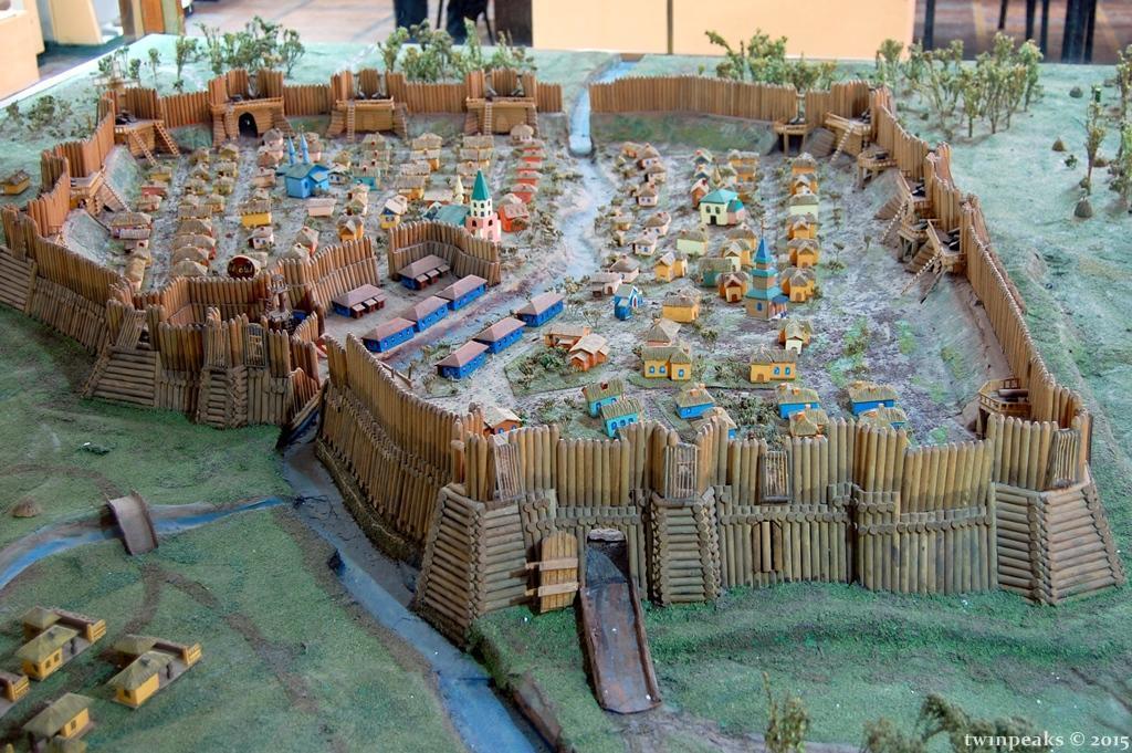 макет Бахмутської фортеці у музеї